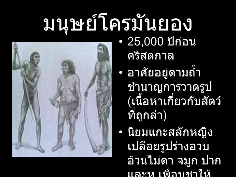 มนุษย์โครมันยอง 25,000 ปีก่อนคริสตกาล