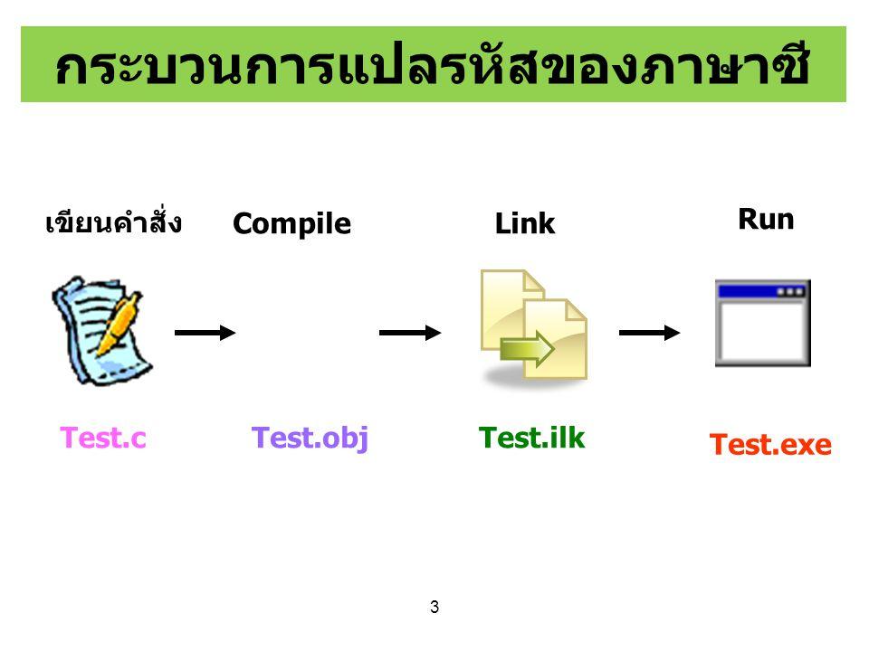 กระบวนการแปลรหัสของภาษาซี