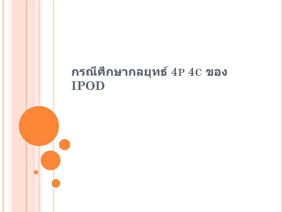 กรณีศึกษากลยุทธ์ 4p 4c ของ IPOD