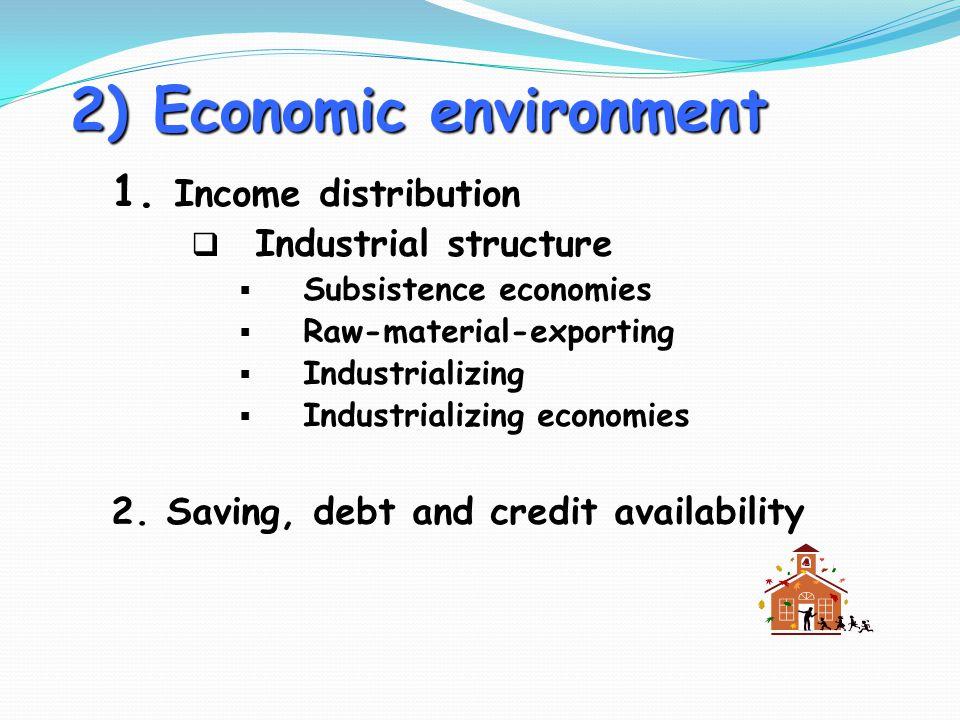 2) Economic environment