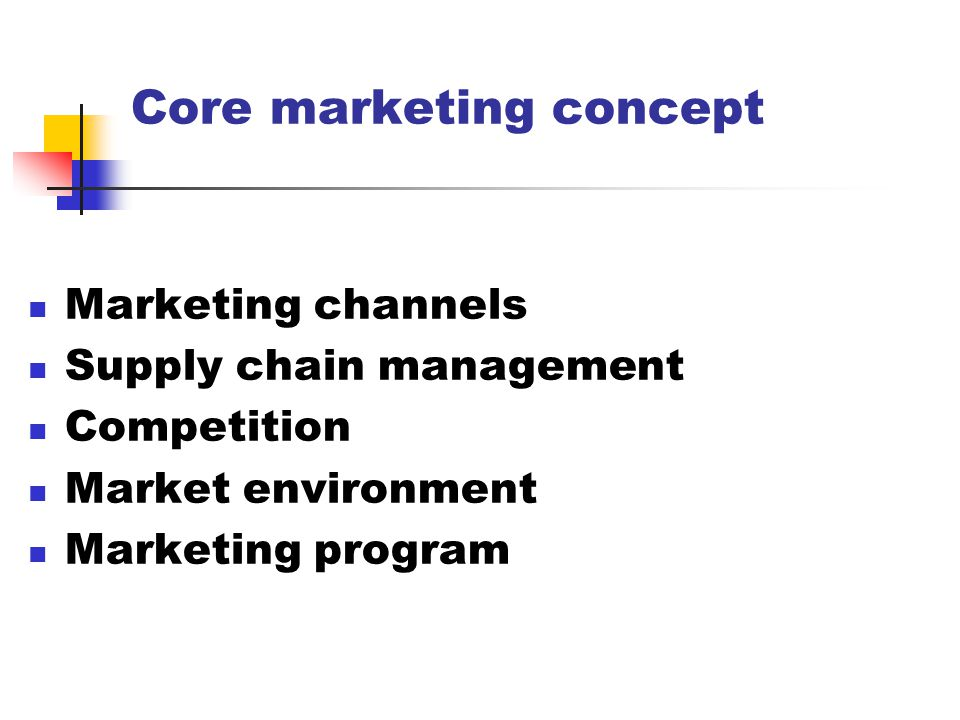 Core marketing concept
