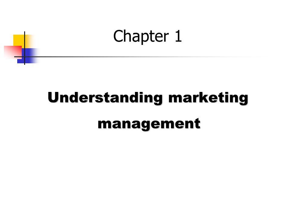 Understanding marketing management