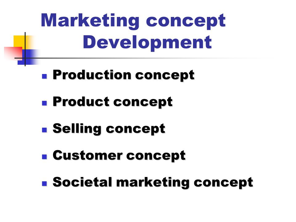 Marketing concept Development