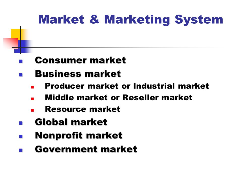 Market & Marketing System