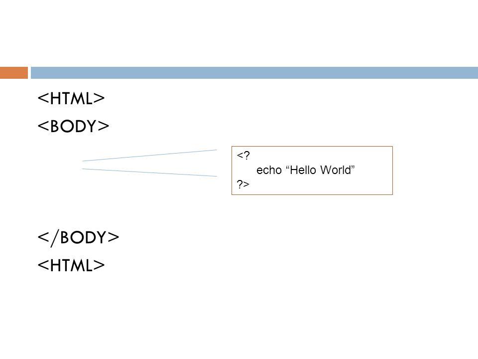 <HTML> <BODY> </BODY>