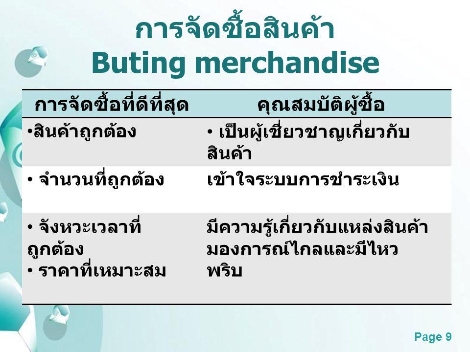การจัดซื้อสินค้า Buting merchandise