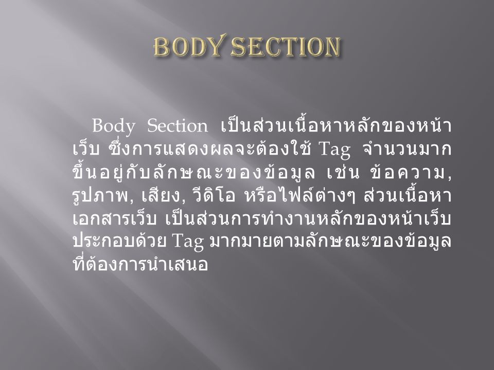 Body Section