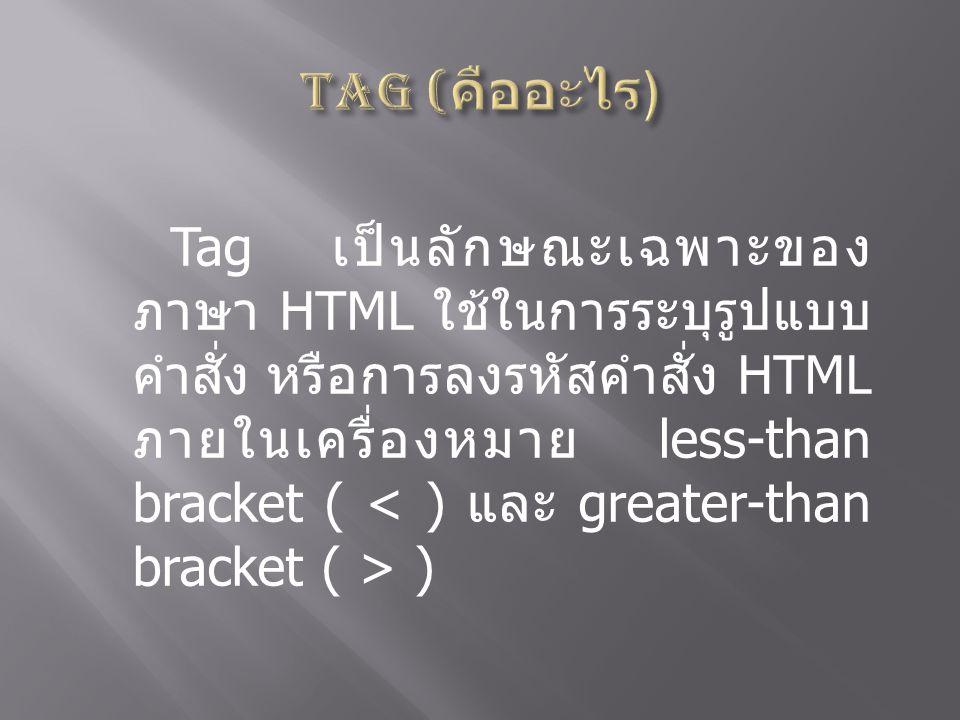 Tag (คืออะไร)