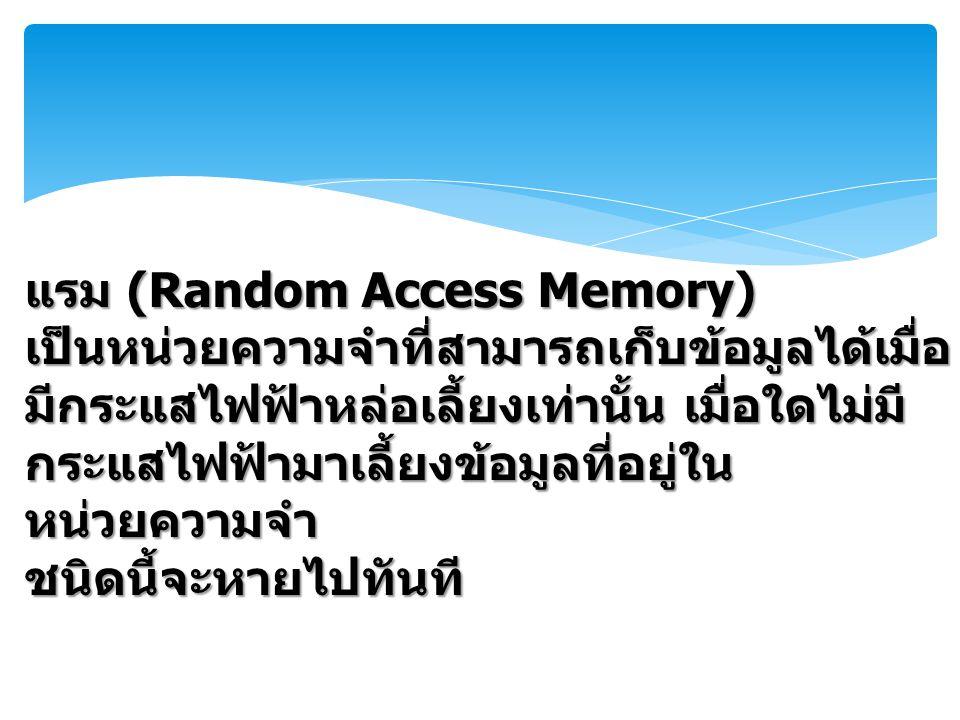 แรม (Random Access Memory)