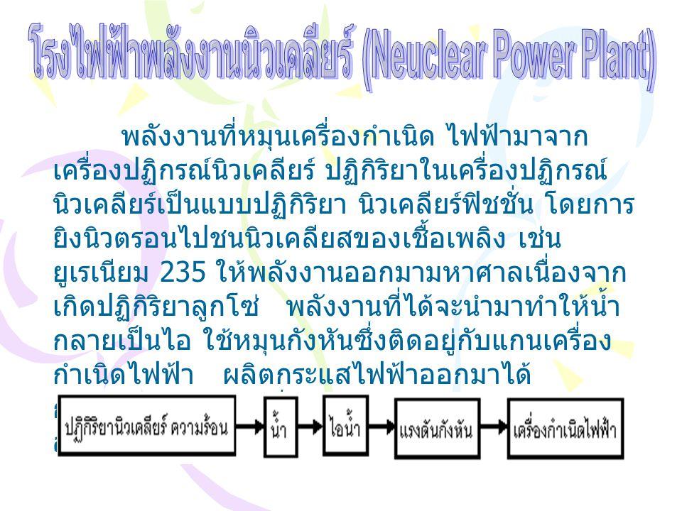 โรงไฟฟ้าพลังงานนิวเคลียร์ (Neuclear Power Plant)