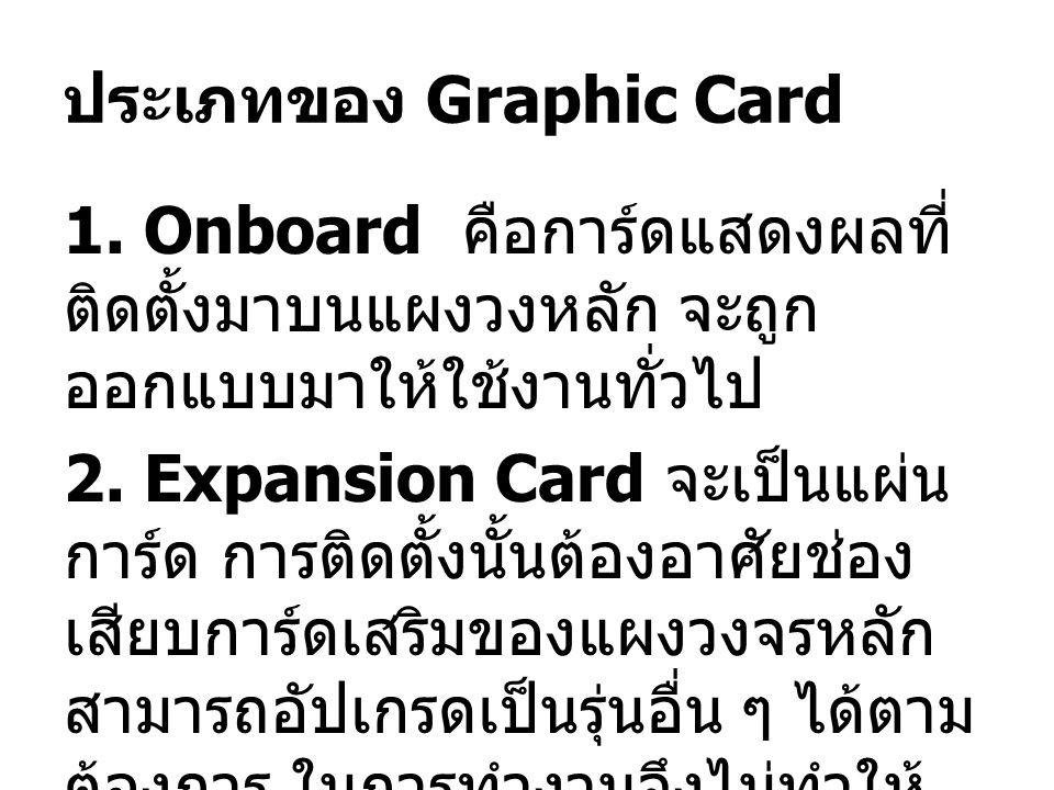 ประเภทของ Graphic Card