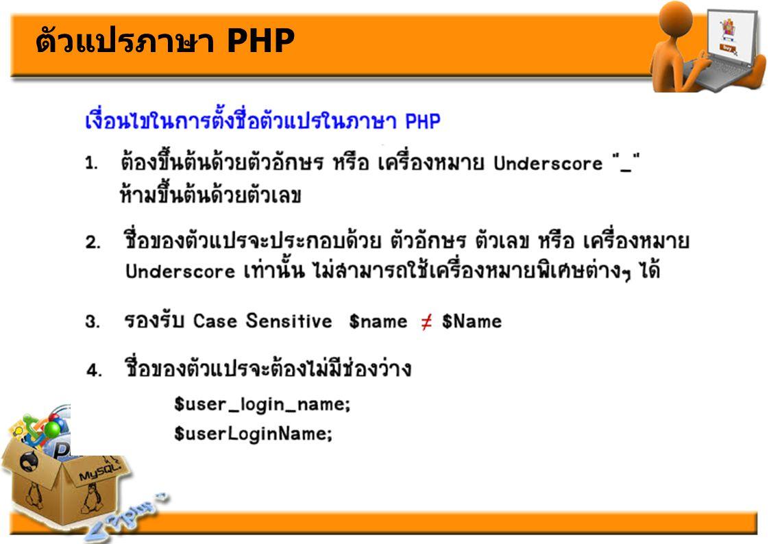 เริ่มเขียนโปรแกรมบนเว็บดวย PHP อยางไร
