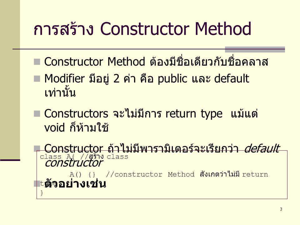 การสร้าง Constructor Method