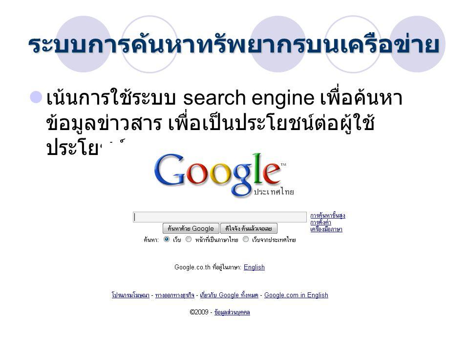 ระบบการค้นหาทรัพยากรบนเครือข่าย