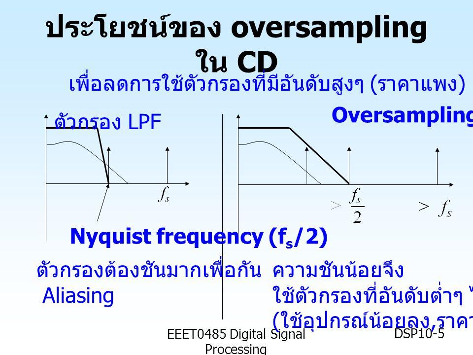 ประโยชน์ของ oversampling ใน CD