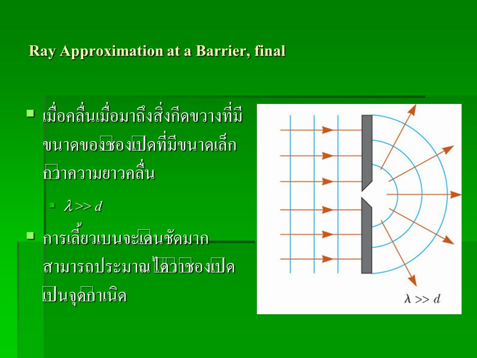 Ray Approximation at a Barrier, final
