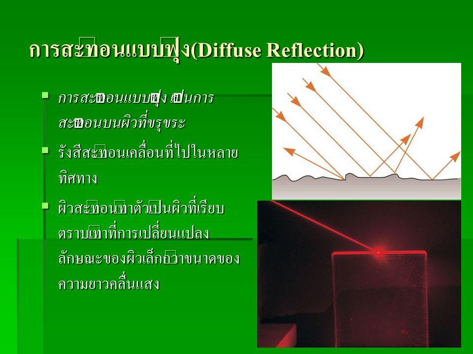 การสะท้อนแบบฟุ้ง(Diffuse Reflection)