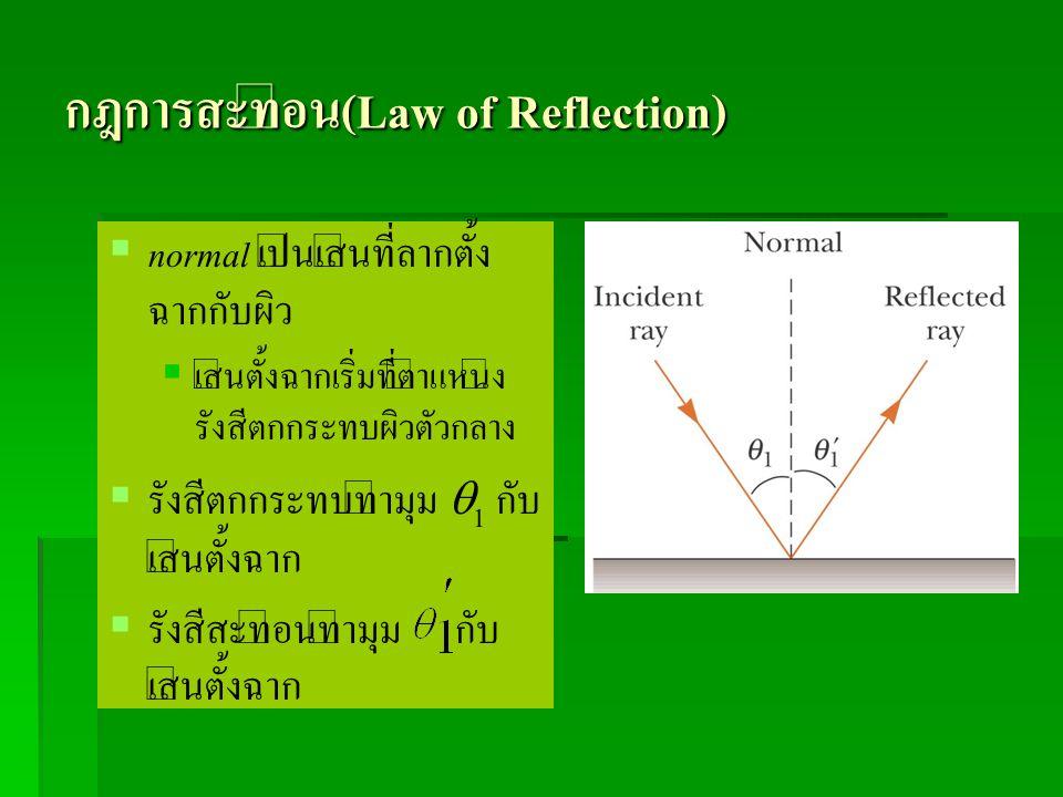 กฎการสะท้อน(Law of Reflection)