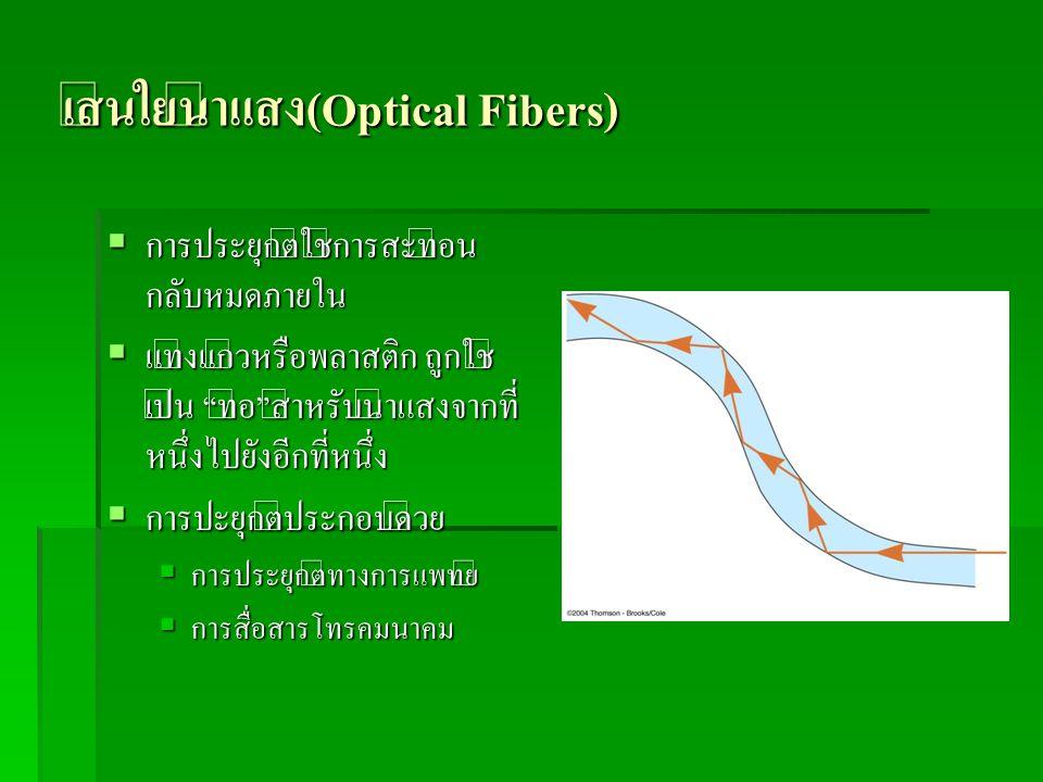 เส้นใยนำแสง(Optical Fibers)