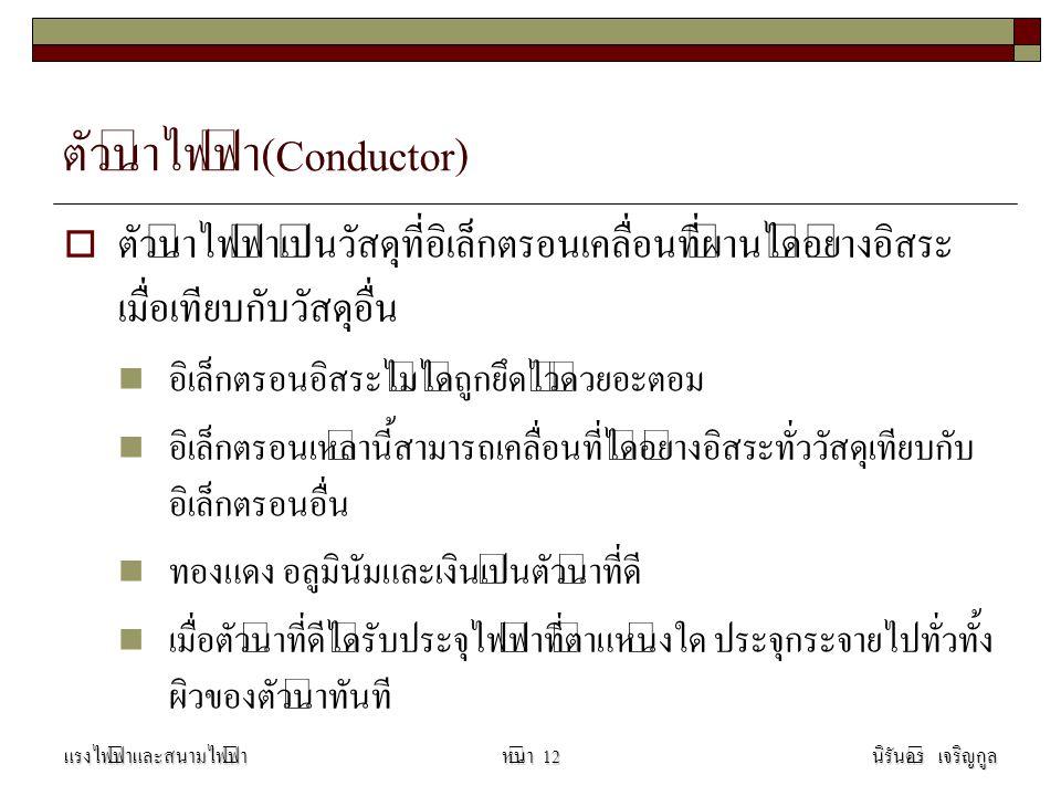 ตัวนำไฟฟ้า(Conductor)