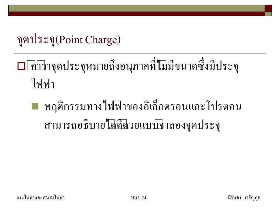 จุดประจุ(Point Charge)