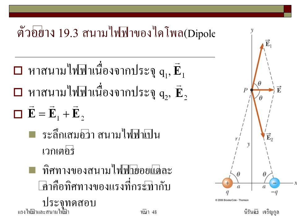 ตัวอย่าง 19.3 สนามไฟฟ้าของไดโพล(Dipole)