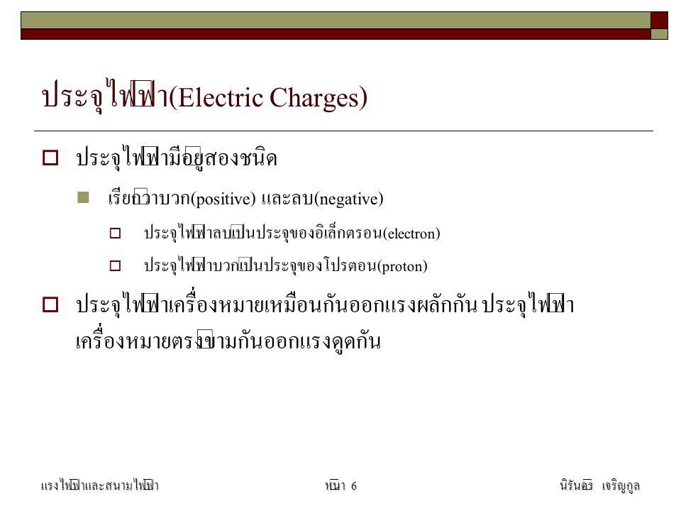 ประจุไฟฟ้า(Electric Charges)