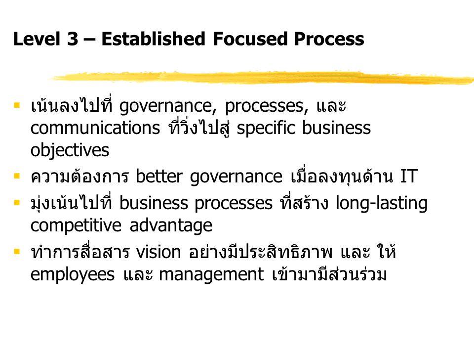 Level 3 – Established Focused Process