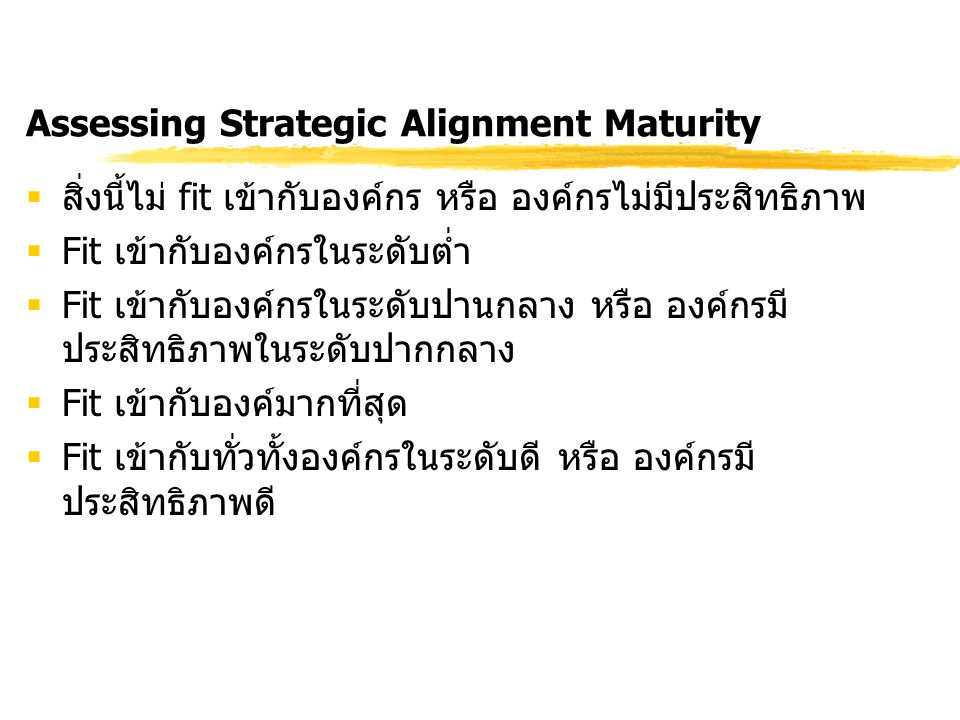 Assessing Strategic Alignment Maturity