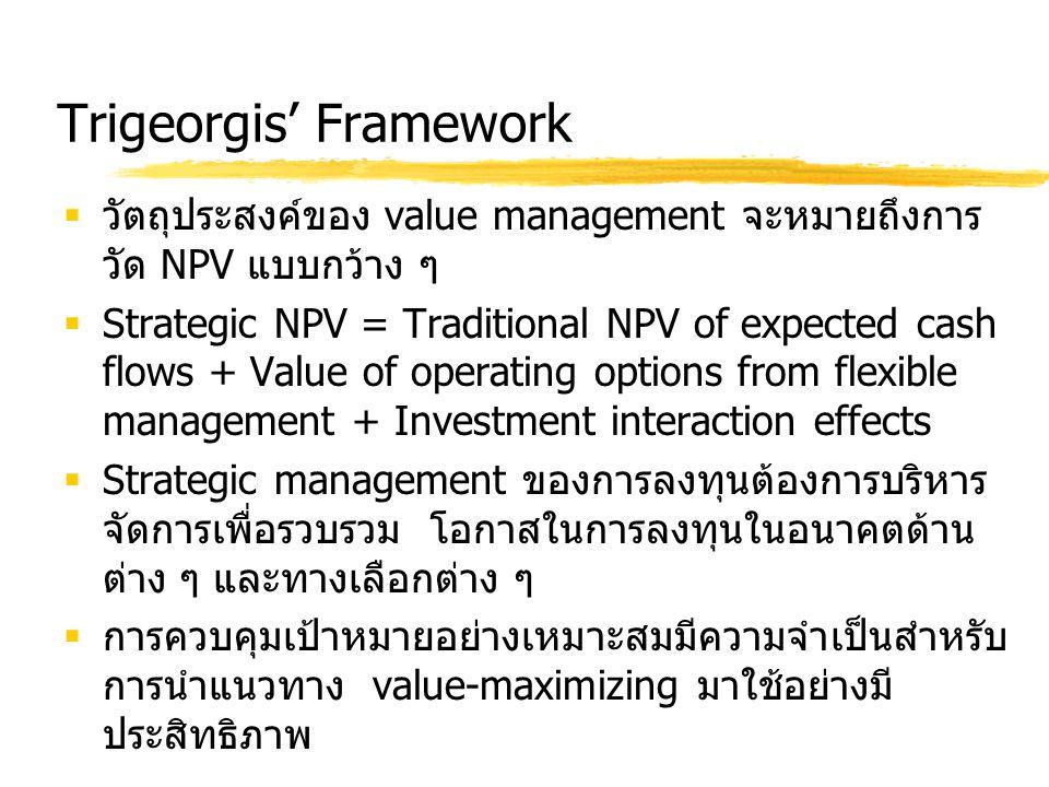 Trigeorgis' Framework