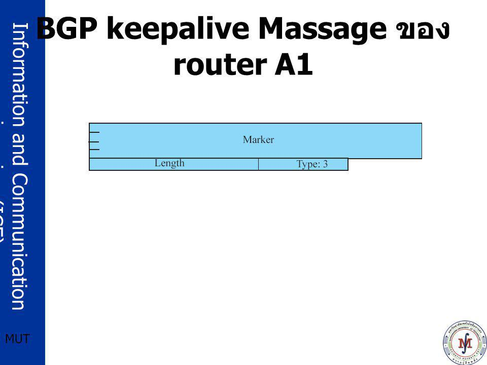 BGP keepalive Massage ของ router A1