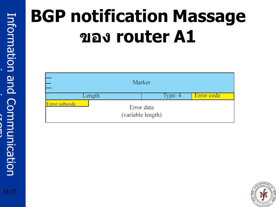 BGP notification Massage ของ router A1