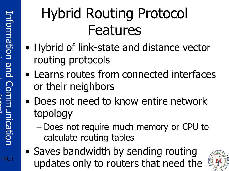 Hybrid Routing Protocol Features