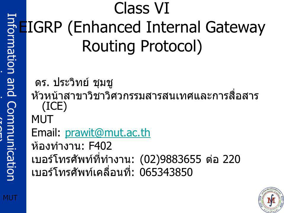 Class VI EIGRP (Enhanced Internal Gateway Routing Protocol)