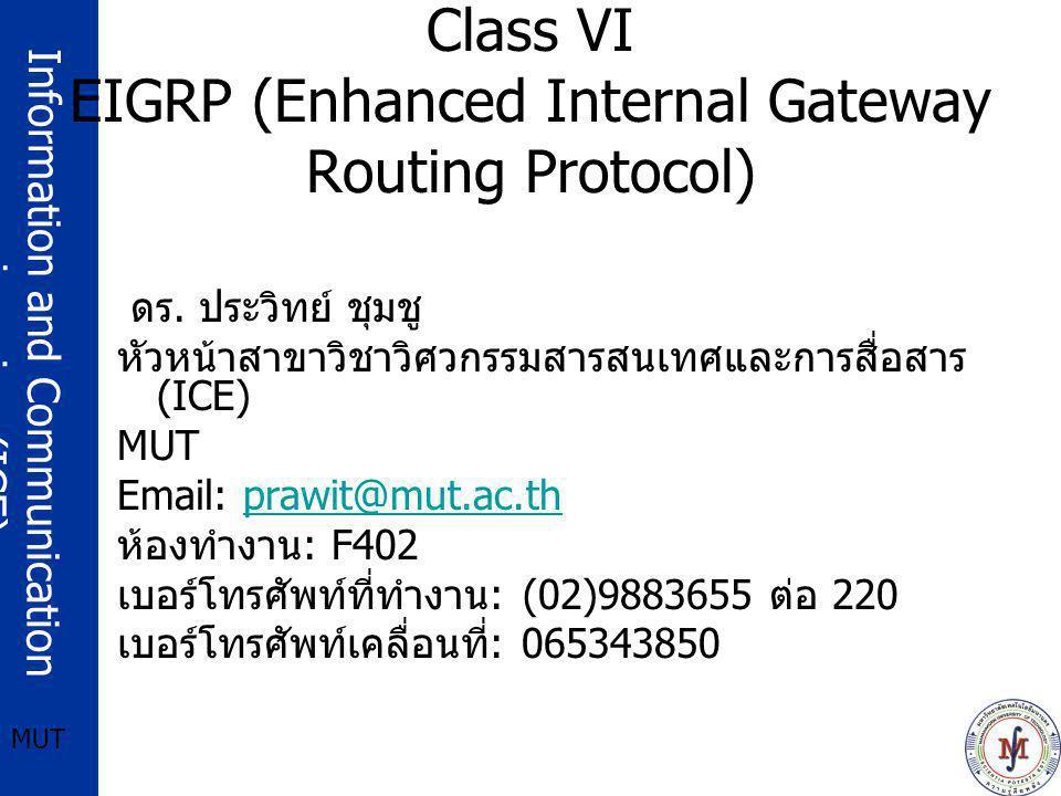 Class VI EIGRP (Enhanced Internal Gateway Routing Protocol)