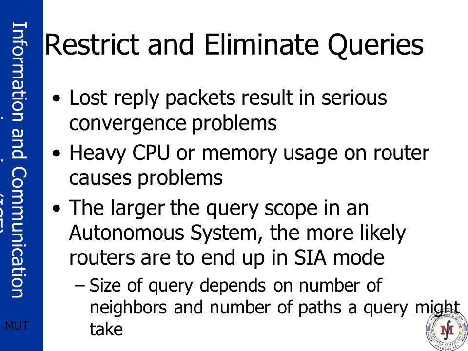 Restrict and Eliminate Queries