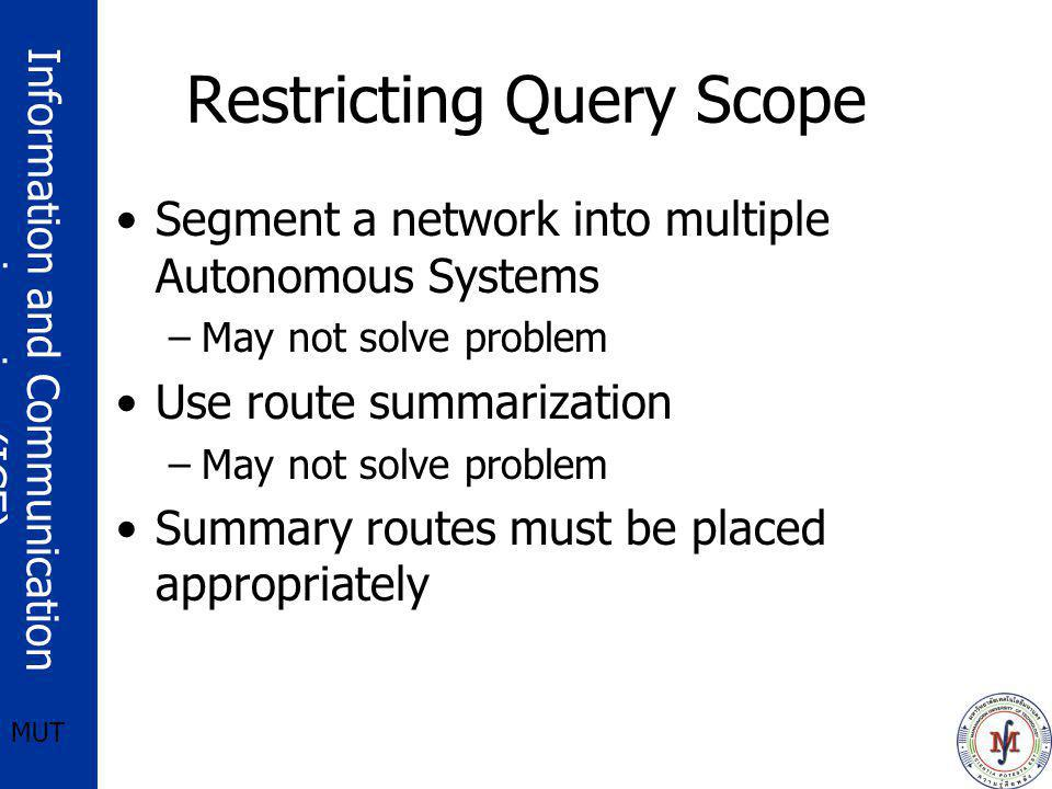 Restricting Query Scope