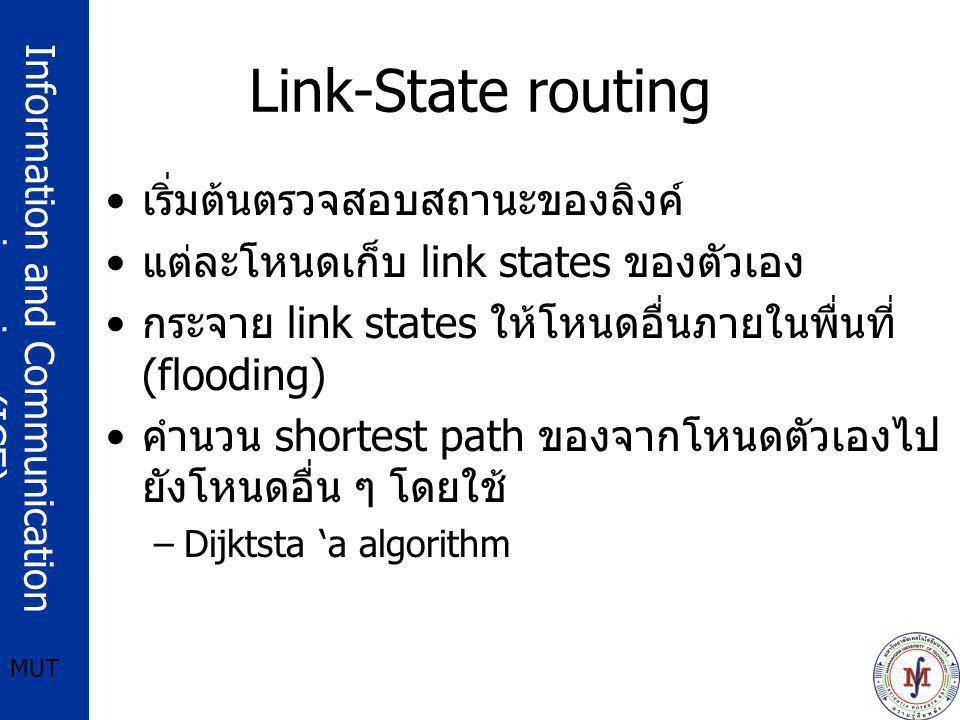 Link-State routing เริ่มต้นตรวจสอบสถานะของลิงค์