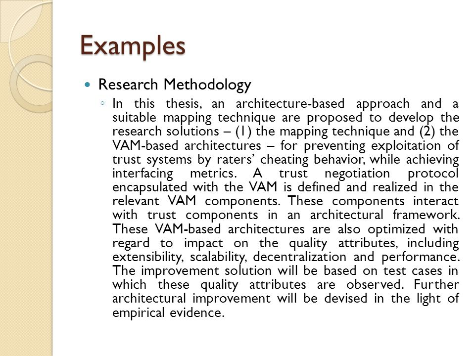 Examples Research Methodology