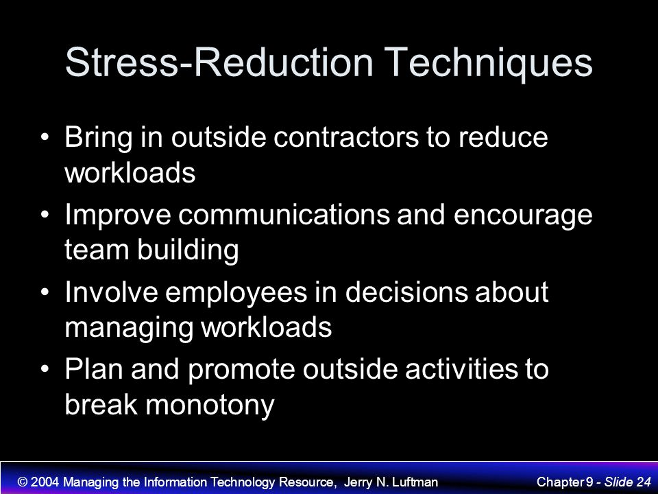 Stress-Reduction Techniques