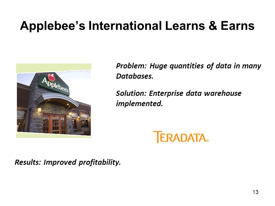 Applebee's International Learns & Earns