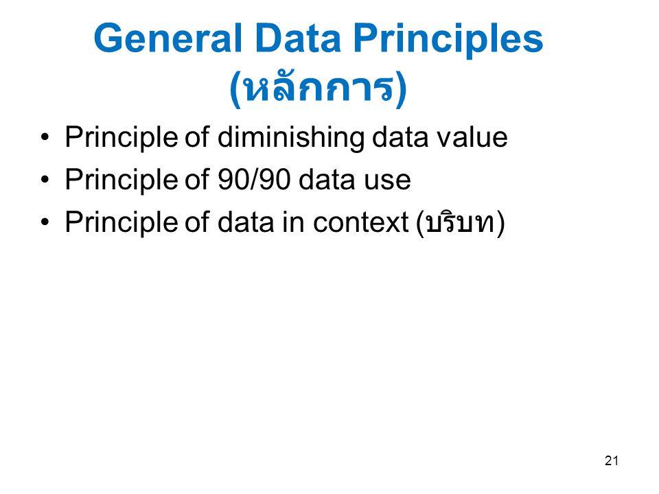 General Data Principles (หลักการ)