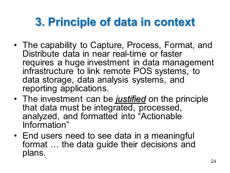 3. Principle of data in context
