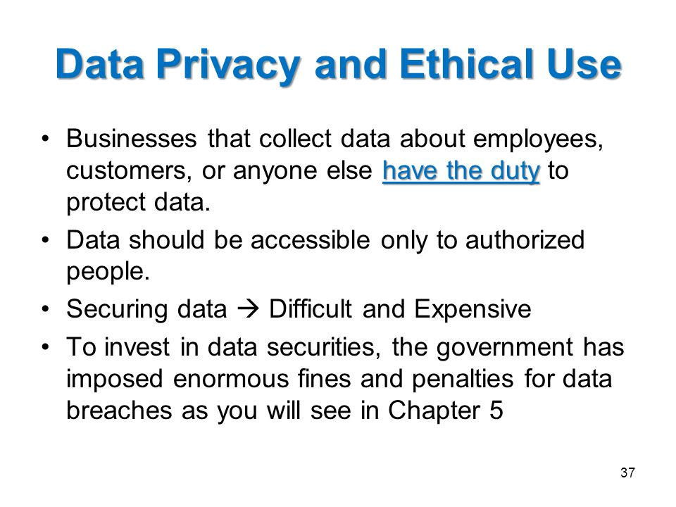 Data Privacy and Ethical Use