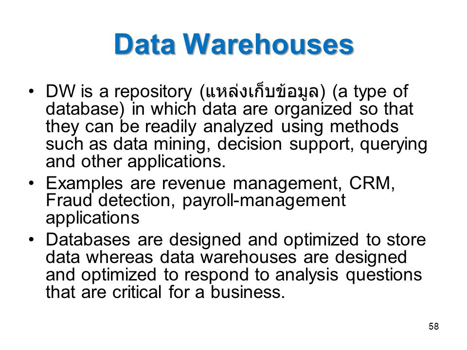 Data Warehouses