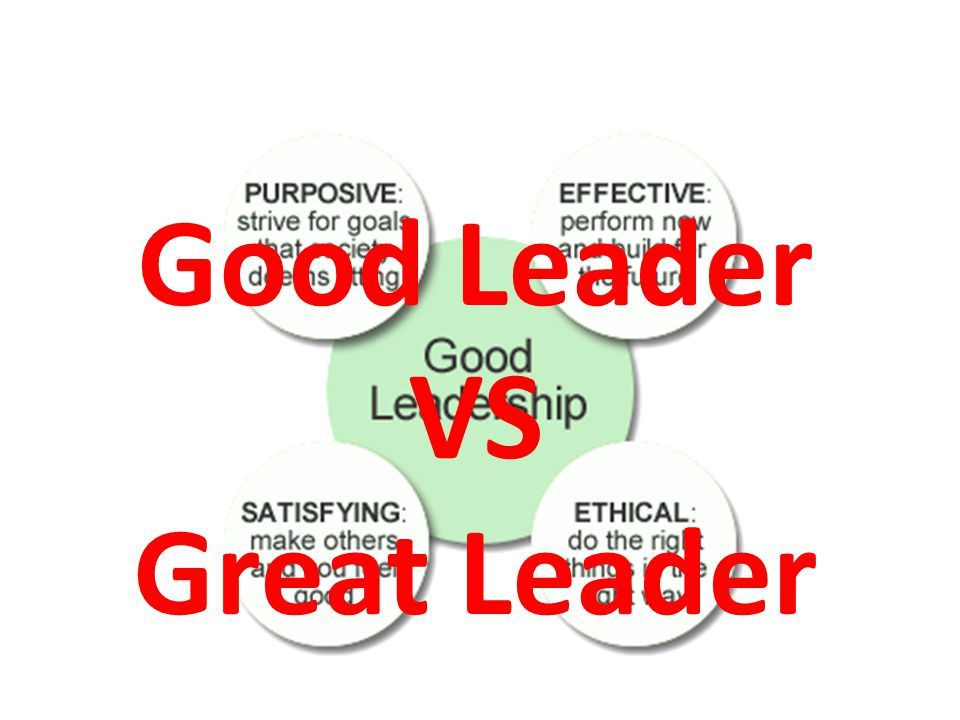 Good Leader VS Great Leader