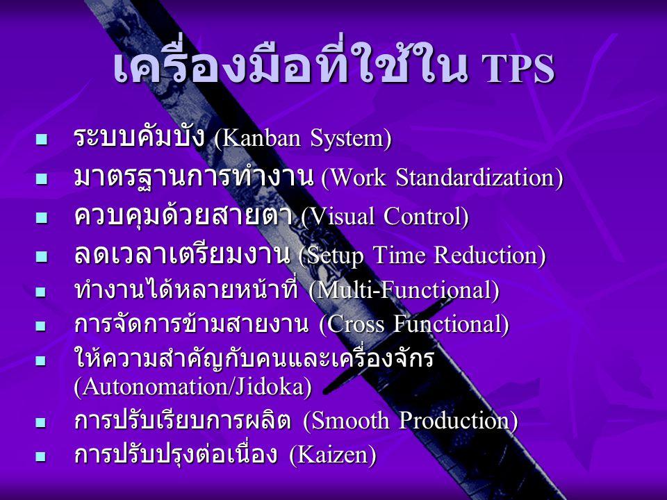 เครื่องมือที่ใช้ใน TPS