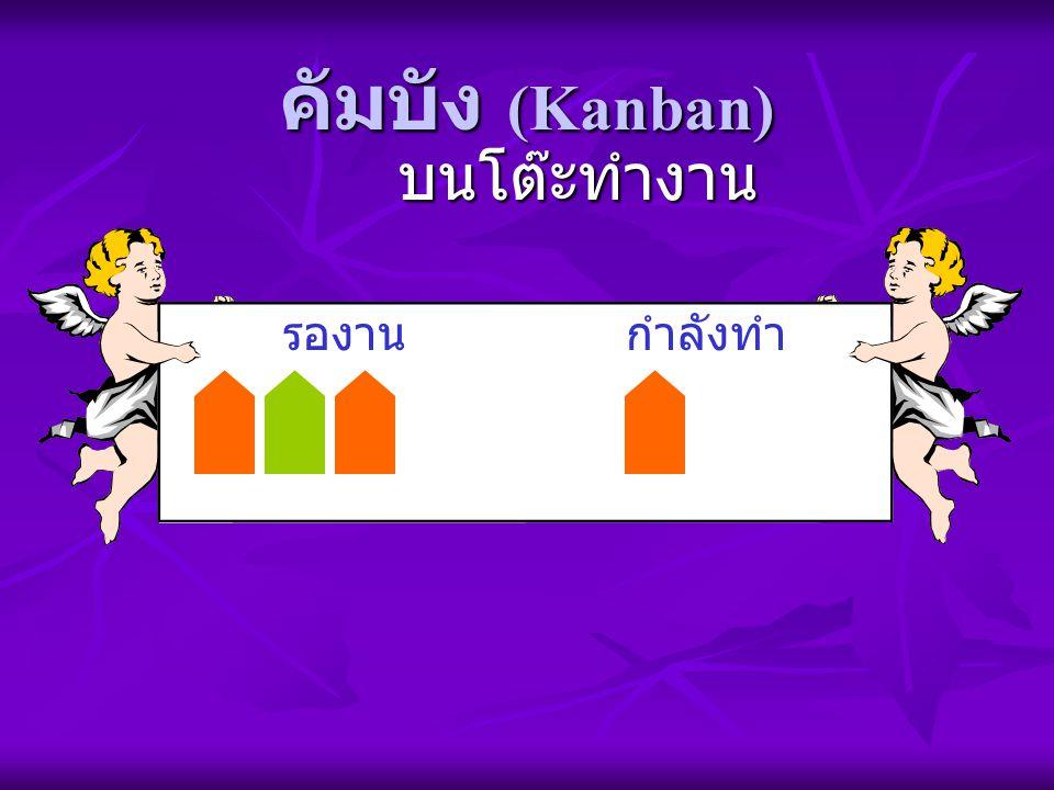 คัมบัง (Kanban) บนโต๊ะทำงาน รองาน กำลังทำ