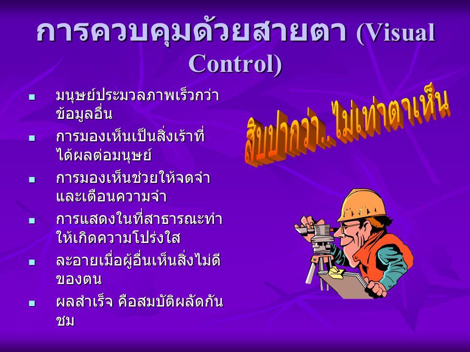การควบคุมด้วยสายตา (Visual Control)