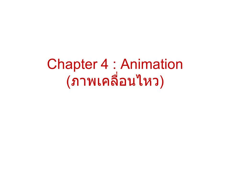 Chapter 4 : Animation (ภาพเคลื่อนไหว)